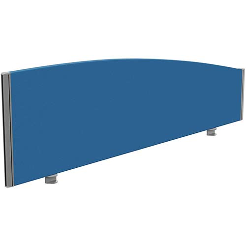 Sprint Eco Office Desk Screen Curved Top W1600xH480-280mm Blue