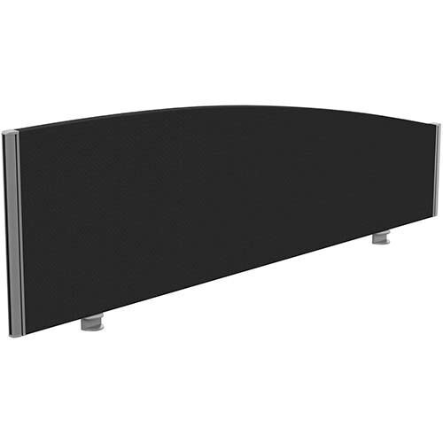 Sprint Eco Office Desk Screen Curved Top W1600xH480-280mm Black