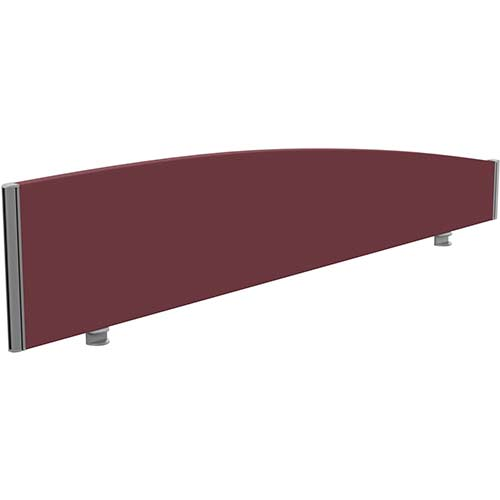 Sprint Eco Office Desk Screen Curved Top W1800xH380-180mm Burgundy