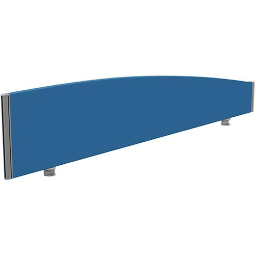 Sprint Eco Office Desk Screen Curved Top W1800xH380-180mm Blue