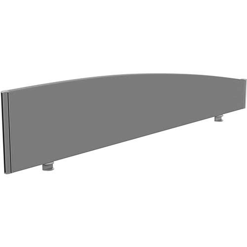 Sprint Eco Office Desk Screen Curved Top W1800xH380-180mm Grey