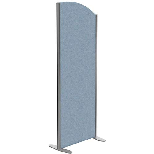 Sprint Eco Freestanding Screen Curved Top W600xH1600-1400mm Light Blue - With Stabilising Feet
