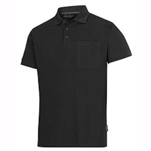Snickers Classic Polo Shirt Black Size: XS