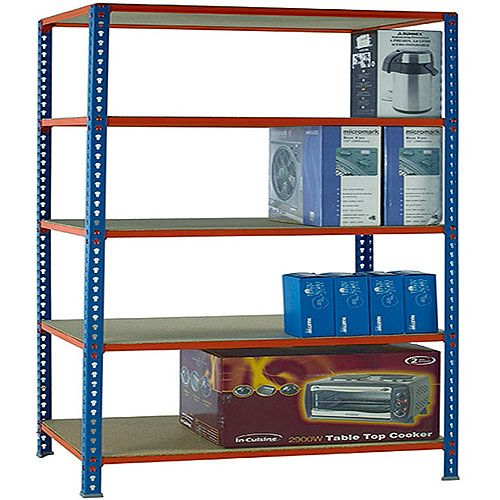 Standard Duty Painted Orange Shelf Unit Blue W900xD300xH2000mm 378966