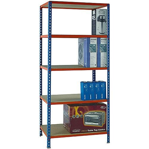 Standard Duty Painted Orange Shelf Unit Blue  W900xD400xH2000mm 378969