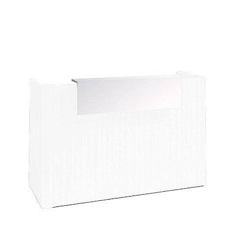 SOVE Minimalist Design Reception Desk W1300mm White With White Counter Top