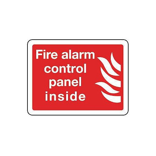 Aluminium Fire Alarm Control Panel Inside Sign