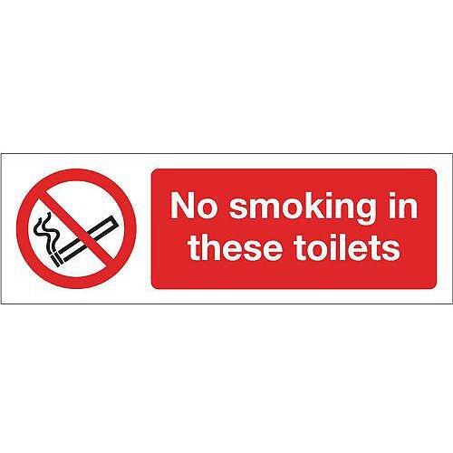 Aluminium Smoking Prohibition Sign No Smoking In These Toilets