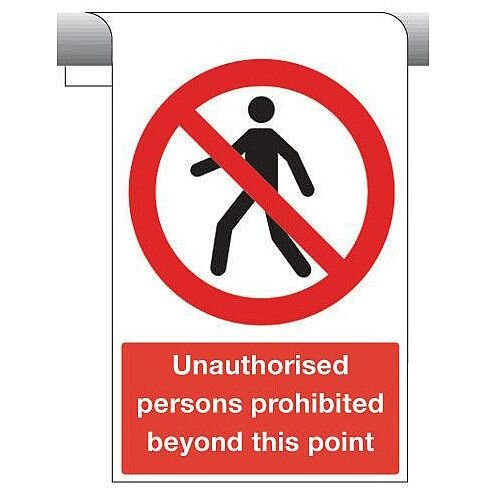 Sign Unauthorised Persons Prohibited 450X600 Aluminium