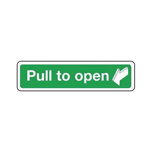 Rigid PVC Plastic Pull To Open Sign