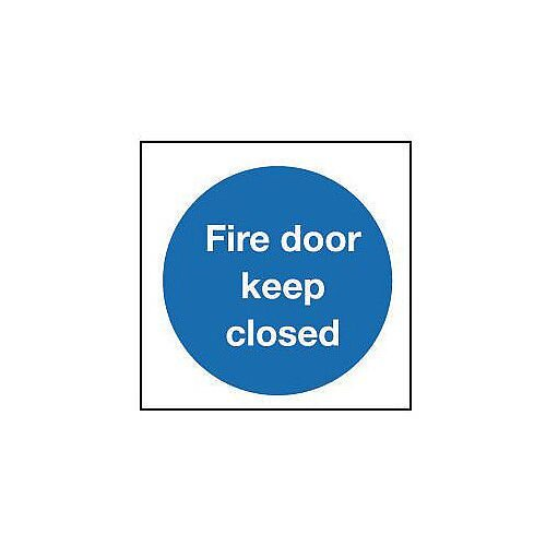 Rigid PVC Plastic Fire Door Keep Closed Sign