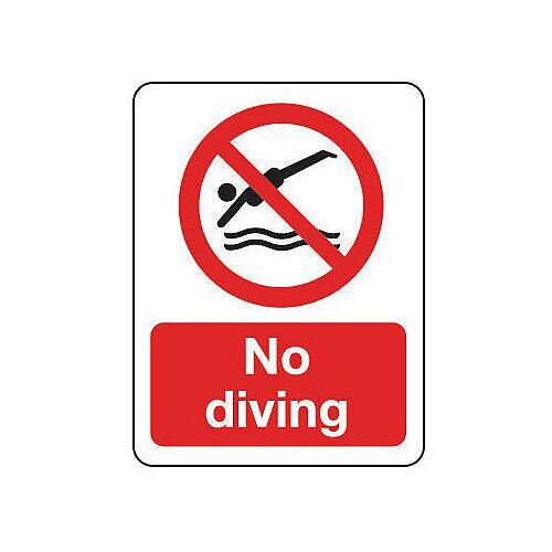 Rigid PVC Plastic National Water Safety Sign No Diving
