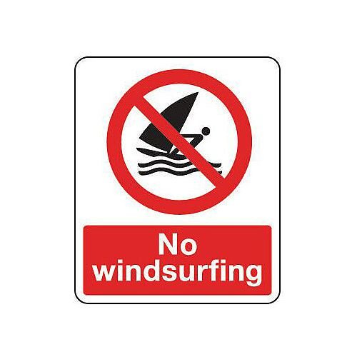 Rigid PVC Plastic National Water Safety Sign No Windsurfing