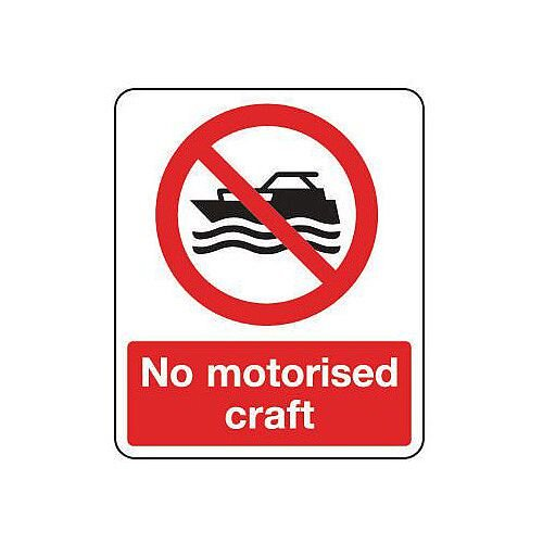 Rigid PVC Plastic National Water Safety Sign No Motorised Craft