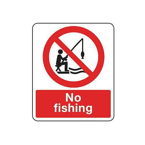 Rigid PVC Plastic National Water Safety Sign No Fishing