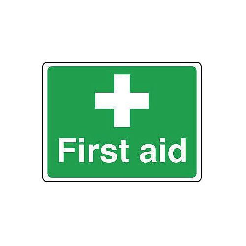Rigid PVC Plastic Safe Condition And First Aid Sign First Aid Sign Small