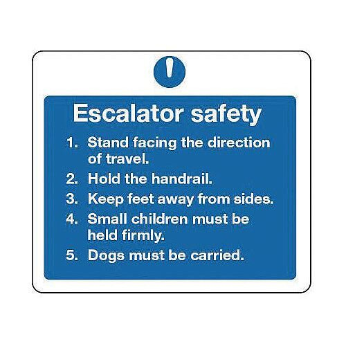 Rigid PVC Plastic Escalators And Passenger Conveyors Sign Escalator Safety