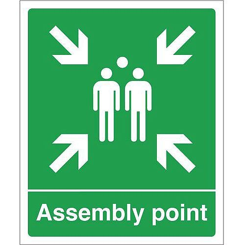 Rigid PVC Plastic Assembly Point Sign Assembly Point