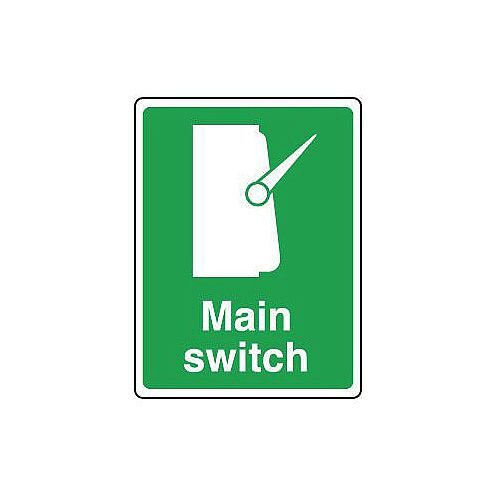 Rigid PVC Plastic Safe Condition And First Aid Sign Main Switch