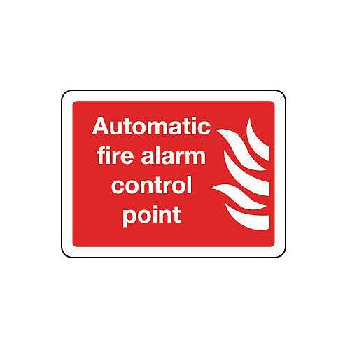 Rigid PVC Plastic Automatic Fire Alarm Control Point Sign