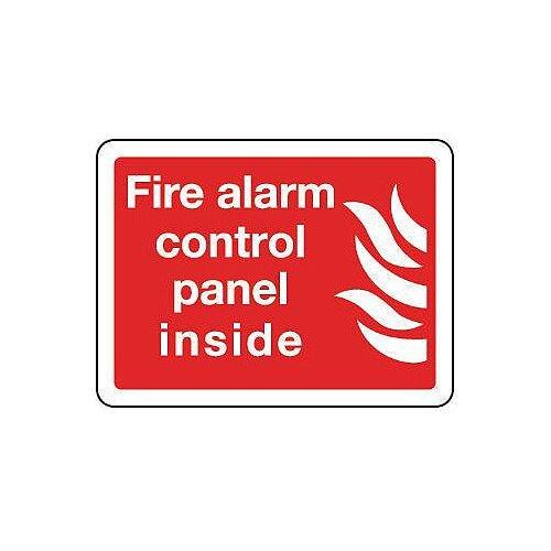 Rigid PVC Plastic Fire Alarm Control Panel Inside Sign