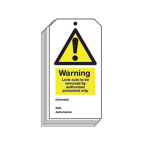 Tag Warning Lock Outs To 80X150 Rigid Plastic