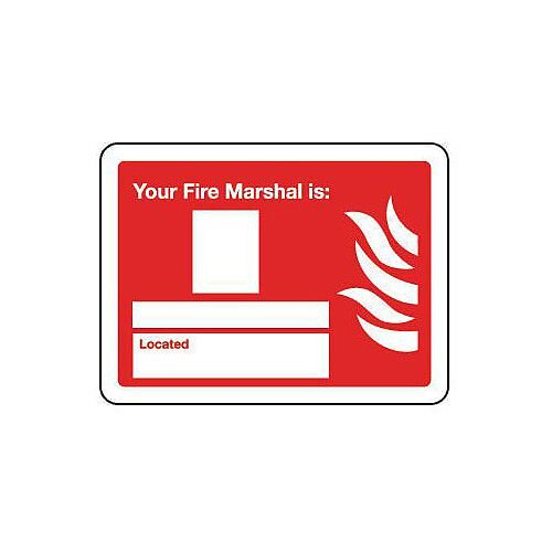 Sign Your Fire Marshal Is 200X150 Rigid Plastic