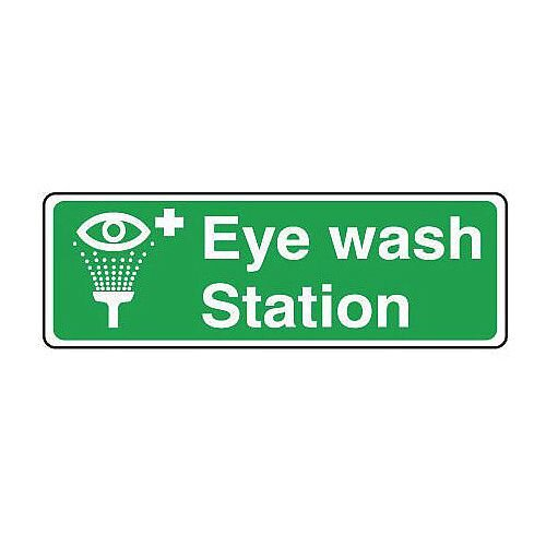 Rigid PVC Plastic Safe Condition And First Aid Sign Eyewash Station Sign