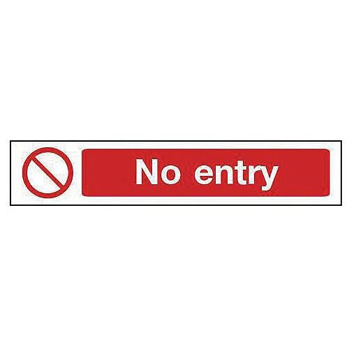 Rigid PVC Plastic Overhead Prohibition Sign No Entry