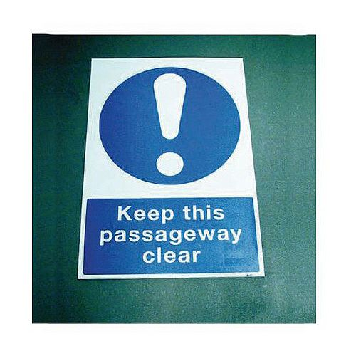 Sign Keep This Passageway 400x600 Floor Vinyl