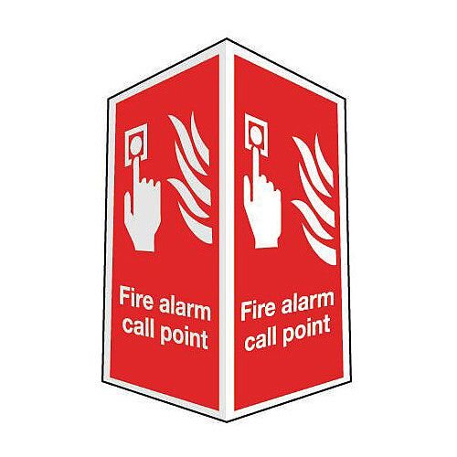 Sign Fire Alarm Call Point Projecting 200X300 R D Plastic