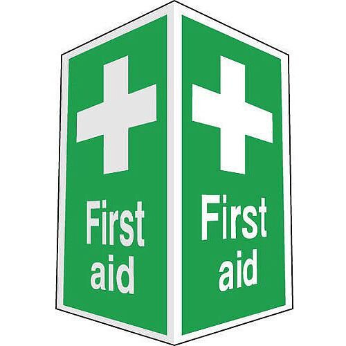 Sign First Aid Projecting 200X300 Rigid Plastic