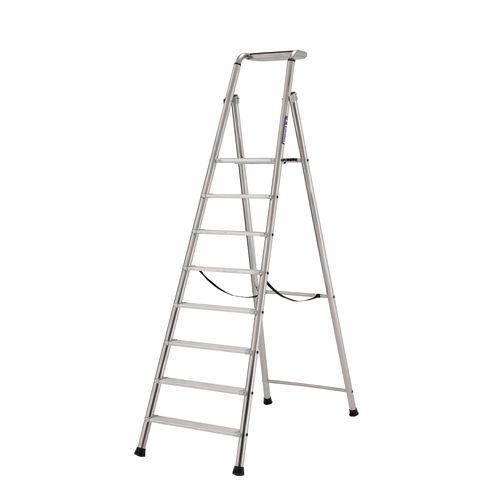 Extra Heavy Duty Aluminium 8 Step Ladder Platform Height 1.91M Closed Height 2.92M Capacity 350Kg