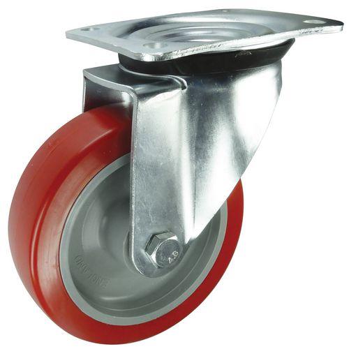 Polyurethane Tyred Wheel, Medium Duty - Swivel Load Capacity 250kg