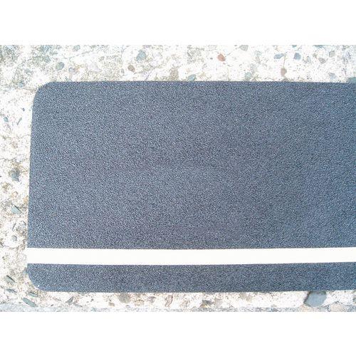 Hazard Warning Tape Multi Warning, Glow In The Dark Stripe Longitudinal Stripe On Black Ground 150 x 610mm Pack 10