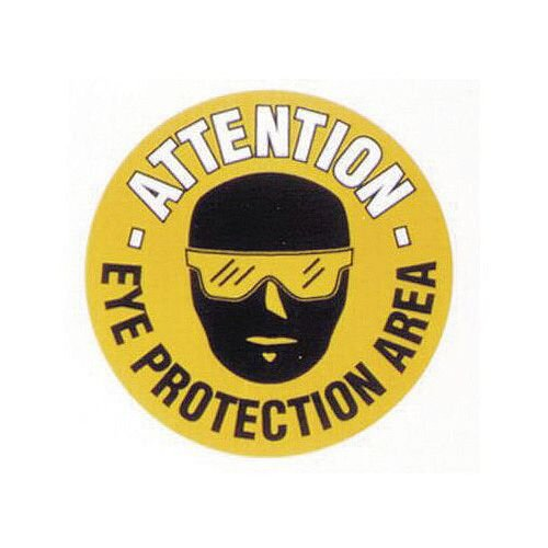 Floor Graphic Marker Eye Protection Area 430mm Diameter Slip Resistant