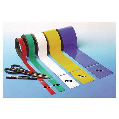 Magnetic Easy Wipe Racking Tape Yellow 25mmx10m