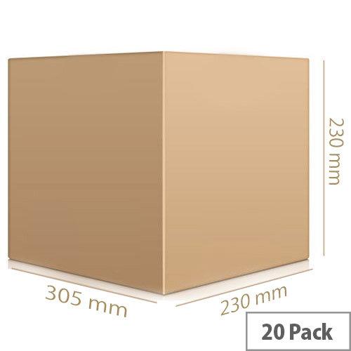 Single Wall Carton 230x305x230mm Pack of 20