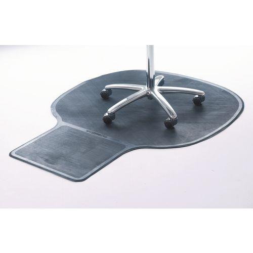 Mat Chair Executive Rubber Black W x L mm: 1140 x 1470