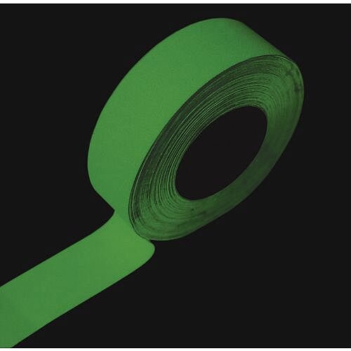 Photoluminescent Slip Resistant Tape Glow in the Dark Roll Width 50mm x 18.3m Pack 1