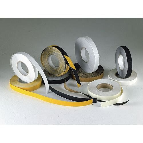 Slip Resistant Floor Tapes Slip Resistant Tape Hi-Visibility Yellow 50mm x 18.3m Self-adhesive Roll Tape