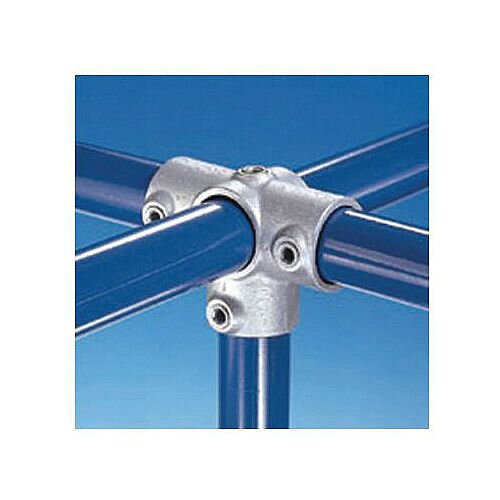 Metal Clamp System Type B 34mm 3-Way Cross With Vertical Through Centre Connector