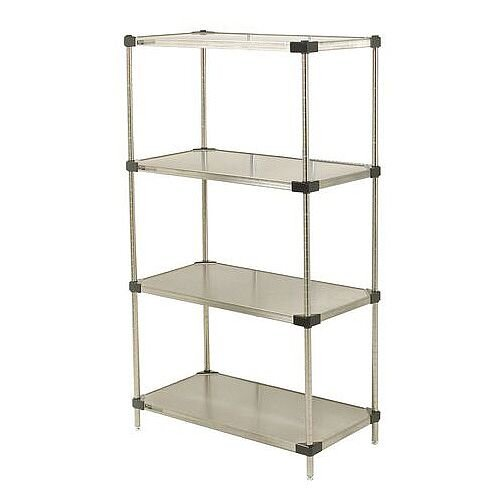 Super Erecta Solid Stainless Steel Shelving 4 Shelf Unit HxWxDmm 1590x1219x457
