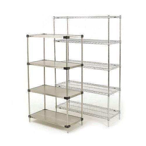 Super Erecta Solid Stainless Steel Shelving 5 Shelf Unit HxWxDmm 1895x1219x610