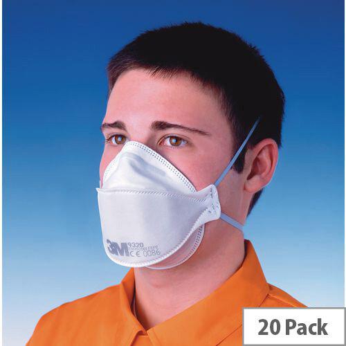P2 Comfort Plus Disposable Masks Comfort Plus Foldable Dust &Mist Unvalved Pack of 20