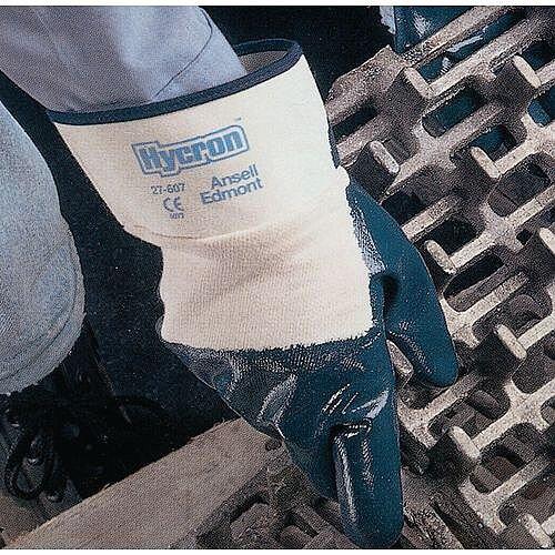 Hycron Blue Nitrile Coated Gloves Pack of 12