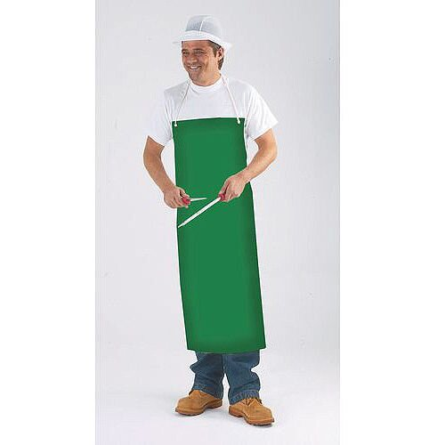 Pvc &Nylon Supported Aprons Bib Style Green