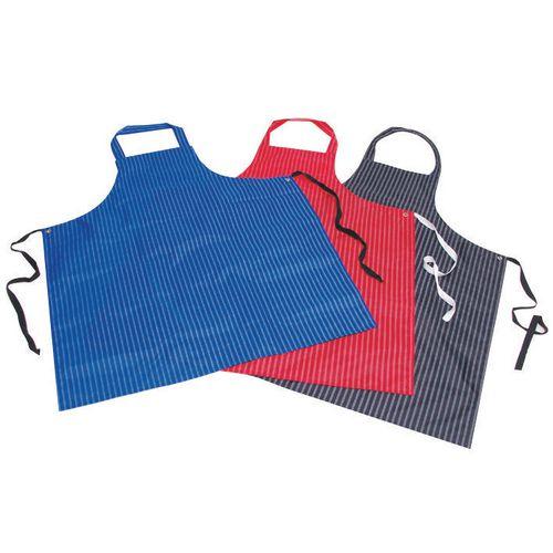 Pu &Nylon Polyester Twin Stripe Butchers Aprons Red