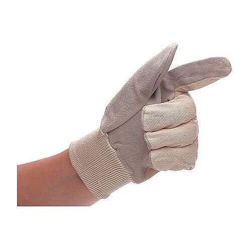 Mens Cotton Chrome Gloves Pack of 10 One Size Only