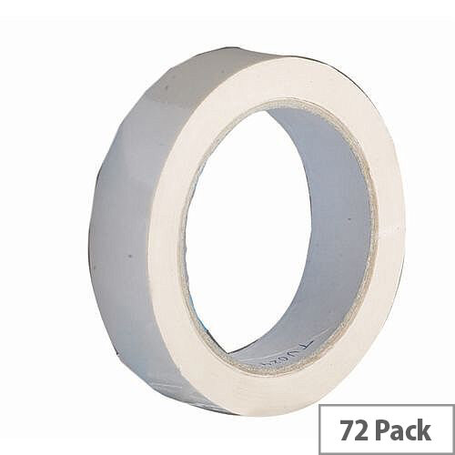 Vinyl Tape Bulk Pack 24mm White Pack of 72